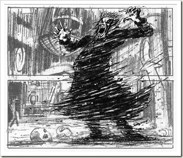 haunted house storyboard art