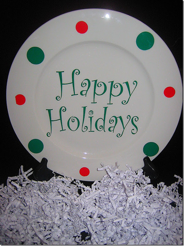 Lizzie Jean's Christmas Plate