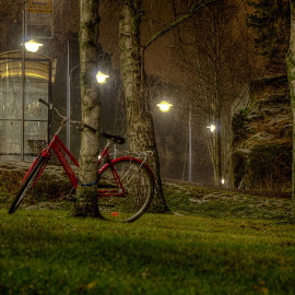 Wher to put it by Bojan Bilas - Transportation Bicycles ( night, transportation, landscape, city, bicycle,  )