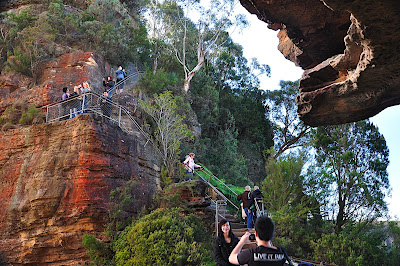 steps to bridge to sister one in blue mountains