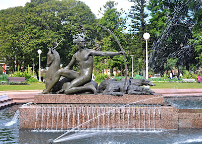 Goddess Diana in Hyde Park fountain, Sydney, NSW, AU