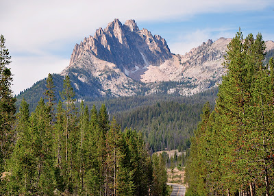 Mt. Heyburn as seen from road to Redfish Lake