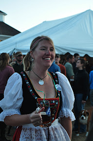 Lindsey in German dirndl