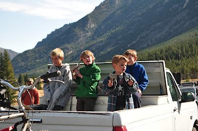 Boys in truck