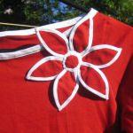 Red and White Flower Top