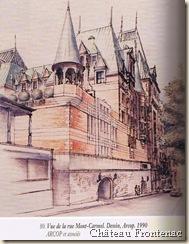 Château Frontenac. Vue de la rue Mont-Carmel