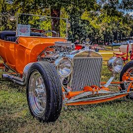 Orange Rod by Ron Meyers - Transportation Automobiles