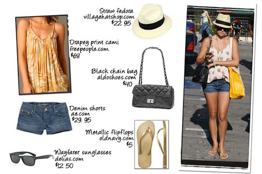 lauren conrad's denim shorts. labels: lauren conrad