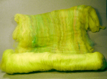 yellow merino batt