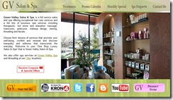 Green Valley Salon and Spa Website