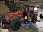 Raceline Monsters with Maxxis Trepadors mounted on an XJ.