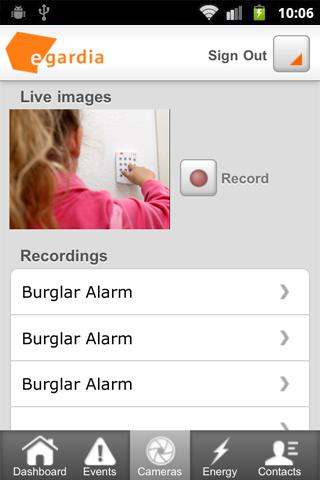 Egardia Alarm System App