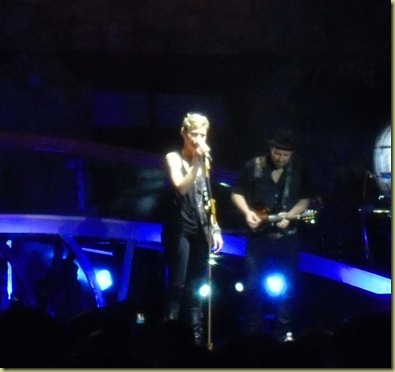 Sugarland on stage at the concert.  Go see them!!