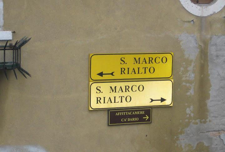 Venezia - Indicazioni per S.Marco