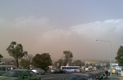 Dust clouds over Belconnen