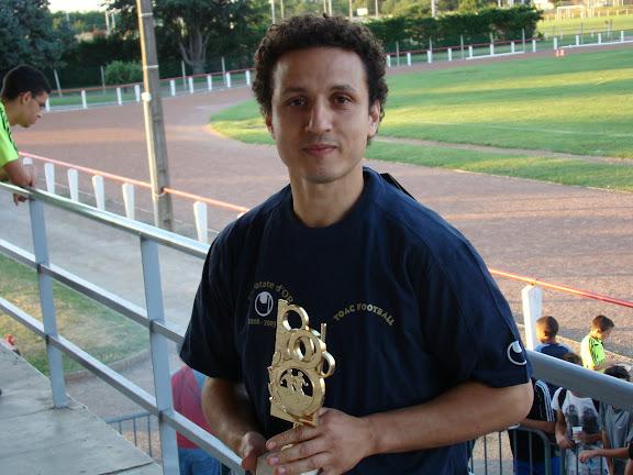 Khalid Kharbouch & son trophée
