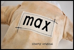 Max Stamped Onesie Close up