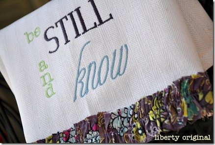 Be still and know close