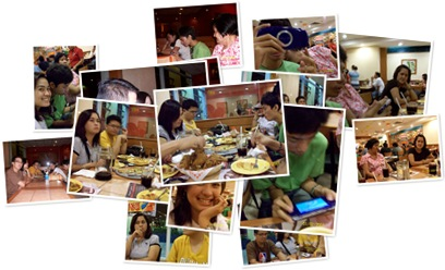 View Dinner at Shakeys with family