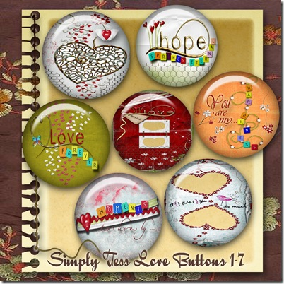 SimplyTess Love Buttons 1-7 Preview
