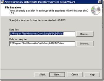 Теперь нужно указать мастеру служебную учетную запись, которая будет использоваться для операций AD LDS.