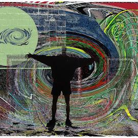 Whackoland by Joerg Schlagheck - Digital Art Abstract ( scary, comfort, scary careful, shaky, zero, weird, step )