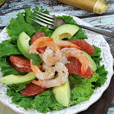 Grapefruit Avocado Shrimp Salad