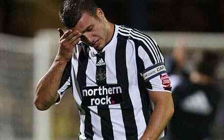 Newcastle United defender Steven Taylor suffers damaged jaw line line in precision