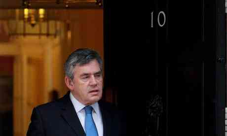 Gordon Brown outward 10 Downing Street