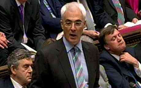 The Chancellor, Alistair Darling, presenting the 2009 Budget in the House of Commons. Budget 2010 Alistair Darling to freeze income bands in