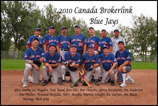 2010 Slo Pitch Blue Jays Team Photo 003F