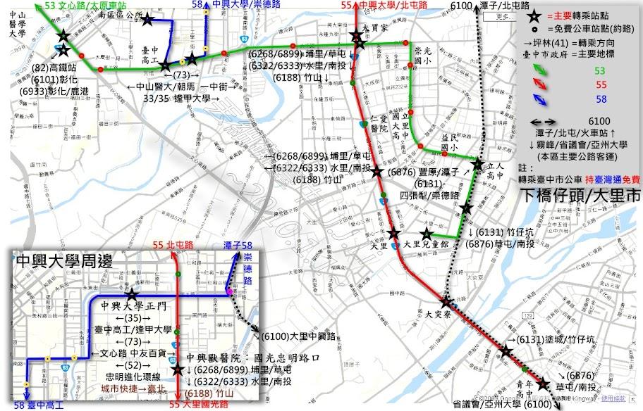 中興/大里區TTJ路網圖