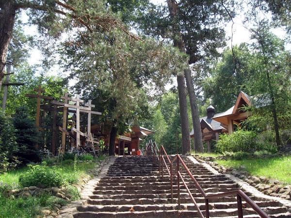 Góra Grabarka - schody na górę