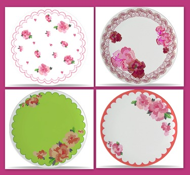 floral melamine plates