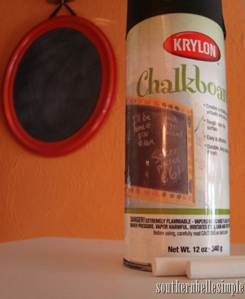 chalkboard paint and mirror