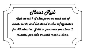 meat rub tag