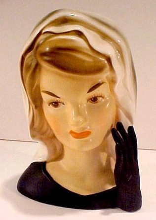 jackie head vase