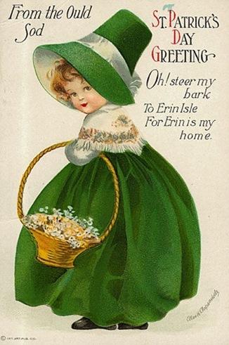 st. pats card vintage