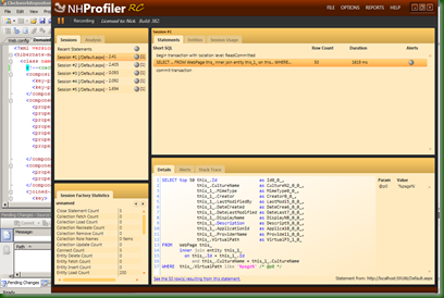 NHProf Main Interface