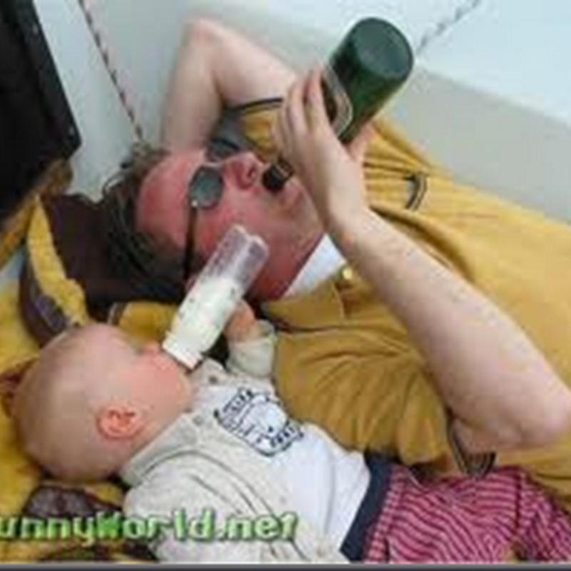 Kecik kecik minum susu .. Besar nanti ? Ikut ayah arrr