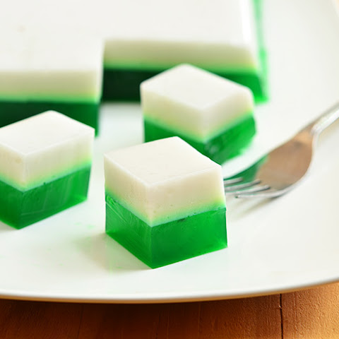 Pandan and Coconut Jelly