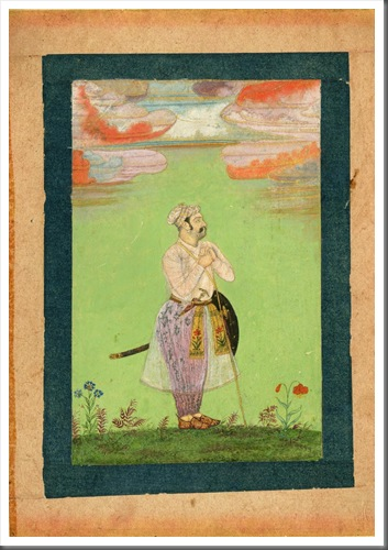 Mughal Officer c. 1650 (©Anne S. K. Brown Military Collection, Brown University Library)