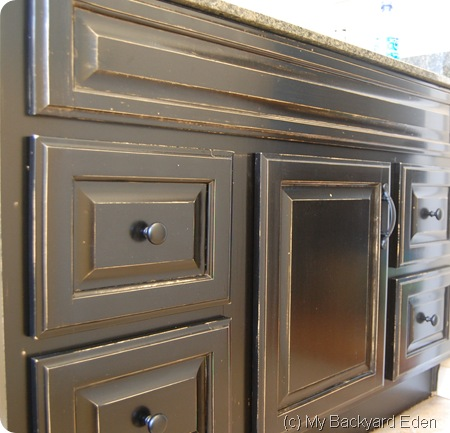 Painted Bathroom Cabinet Makeover DIY Tutorial