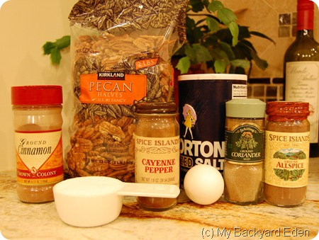 spiced pecan ingredients