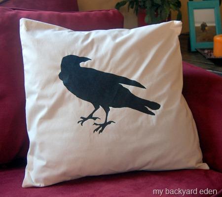 Raven Pillow