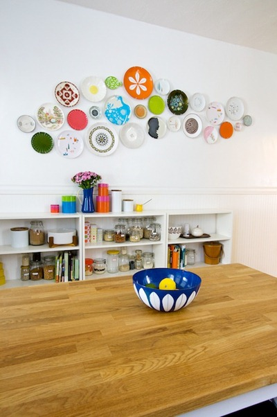 Plate Wall by Lisa Congdon