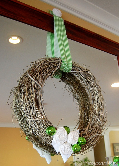Grapevine Rosette Wreath