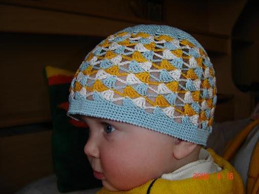 قبعات كروشيه للاولاد مع البترون، قبعات كروشيه للاطفال بالباترون 62