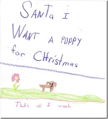 Santa letter from Dylan