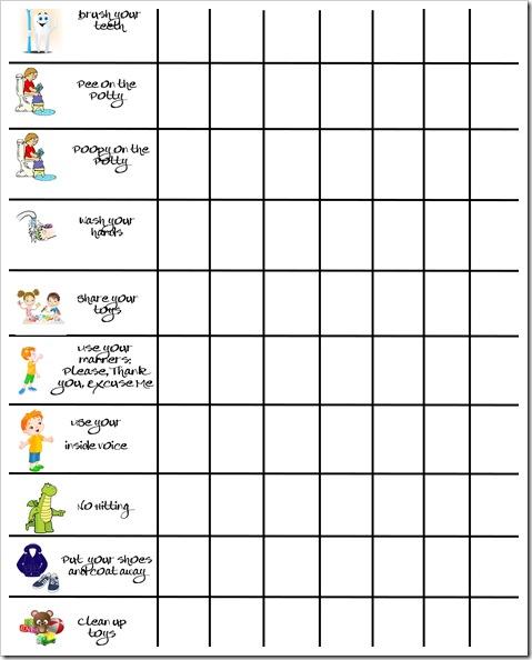 Potty & Behavior Chart copy